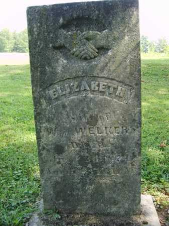 WELKER, ELIZABETH - Gallia County, Ohio | ELIZABETH WELKER - Ohio Gravestone Photos