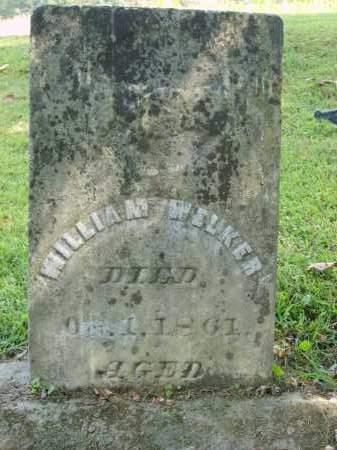 WELKER, WILLIAM - Gallia County, Ohio   WILLIAM WELKER - Ohio Gravestone Photos