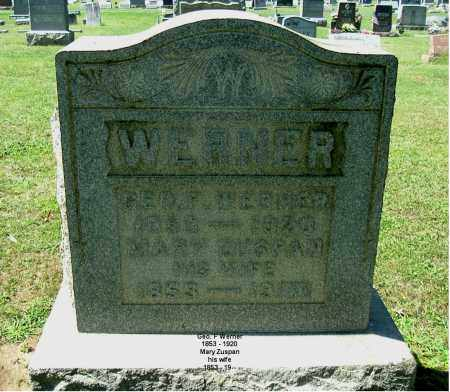ZUSPAN WERNER, MARY - Gallia County, Ohio | MARY ZUSPAN WERNER - Ohio Gravestone Photos