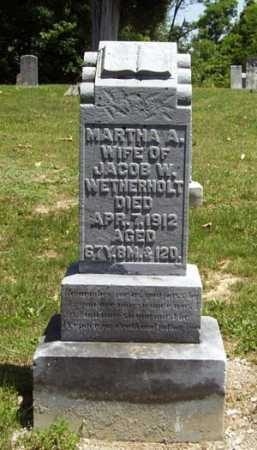 WAUGH WETHERHOLT, MARTHA ANN - Gallia County, Ohio | MARTHA ANN WAUGH WETHERHOLT - Ohio Gravestone Photos