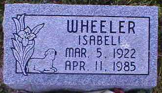WHEELER, ISABELL - Gallia County, Ohio | ISABELL WHEELER - Ohio Gravestone Photos
