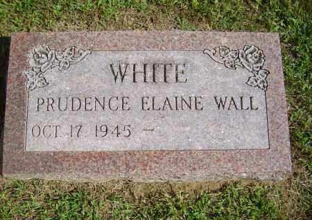 WALL WHITE, PRUDENCE - Gallia County, Ohio | PRUDENCE WALL WHITE - Ohio Gravestone Photos