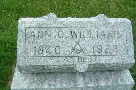WILLIAMS, ANN G. - Gallia County, Ohio | ANN G. WILLIAMS - Ohio Gravestone Photos