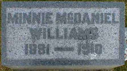 WILLIAMS, MINNIE - Gallia County, Ohio | MINNIE WILLIAMS - Ohio Gravestone Photos