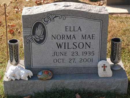 WILSON, ELLA NORMA MAE - Gallia County, Ohio   ELLA NORMA MAE WILSON - Ohio Gravestone Photos