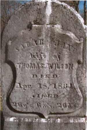 WILSON, SARAH JANE - Gallia County, Ohio | SARAH JANE WILSON - Ohio Gravestone Photos