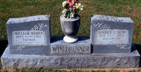 WINEBRENNER, WILLIAM HOMER - Gallia County, Ohio | WILLIAM HOMER WINEBRENNER - Ohio Gravestone Photos
