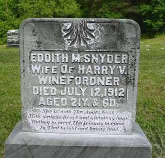 SNYDER WINEFORDNER, EDDITH M. - Gallia County, Ohio | EDDITH M. SNYDER WINEFORDNER - Ohio Gravestone Photos