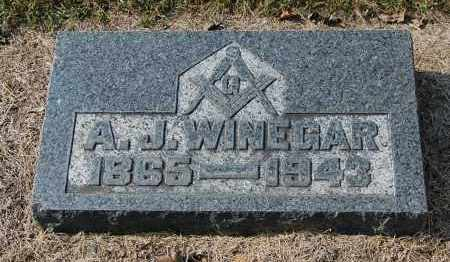 WINEGAR, A.J. - Gallia County, Ohio | A.J. WINEGAR - Ohio Gravestone Photos
