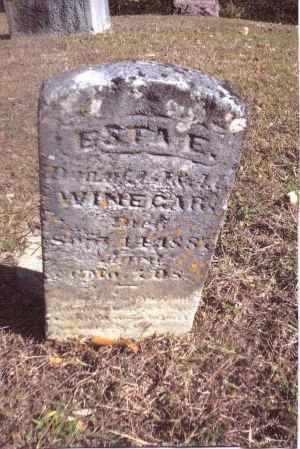 WINEGAR, ESTA E. - Gallia County, Ohio | ESTA E. WINEGAR - Ohio Gravestone Photos