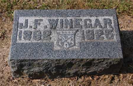 WINEGAR, J. F. - Gallia County, Ohio | J. F. WINEGAR - Ohio Gravestone Photos