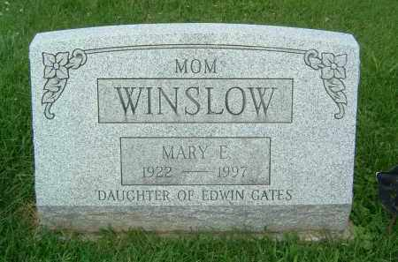 WINSLOW, MARY E. - Gallia County, Ohio | MARY E. WINSLOW - Ohio Gravestone Photos