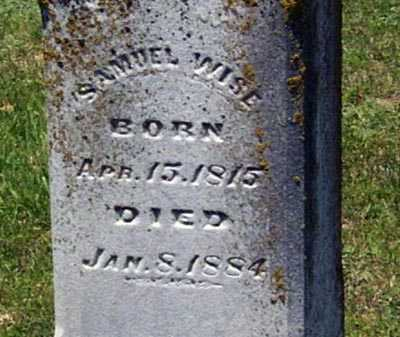 WISE, SAMUEL - Gallia County, Ohio | SAMUEL WISE - Ohio Gravestone Photos