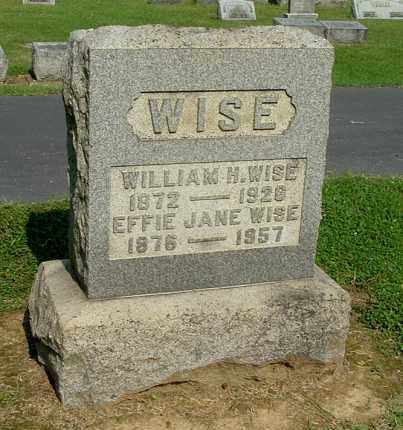 WISE, EFFIE JANE - Gallia County, Ohio | EFFIE JANE WISE - Ohio Gravestone Photos