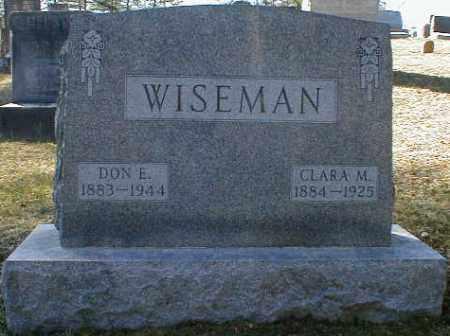 WISEMAN, CLARA - Gallia County, Ohio | CLARA WISEMAN - Ohio Gravestone Photos