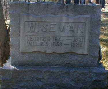 WISEMAN, VALLIE - Gallia County, Ohio | VALLIE WISEMAN - Ohio Gravestone Photos