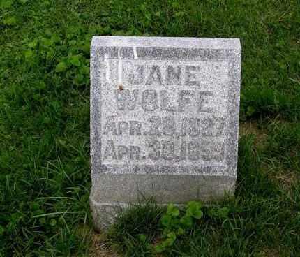 WOLFE, JANE - Gallia County, Ohio | JANE WOLFE - Ohio Gravestone Photos