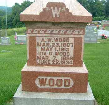 WOOD, A. W. - Gallia County, Ohio | A. W. WOOD - Ohio Gravestone Photos
