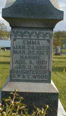 WOOD, NANNIE - Gallia County, Ohio | NANNIE WOOD - Ohio Gravestone Photos