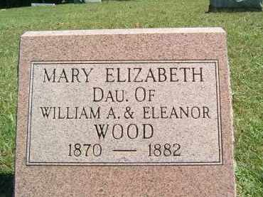 WOOD, MARY ELIZABETH - Gallia County, Ohio | MARY ELIZABETH WOOD - Ohio Gravestone Photos