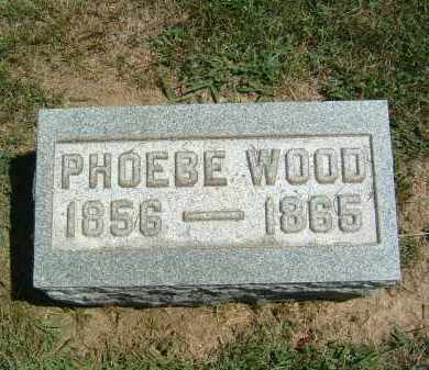 WOOD, PHOEBE - Gallia County, Ohio | PHOEBE WOOD - Ohio Gravestone Photos