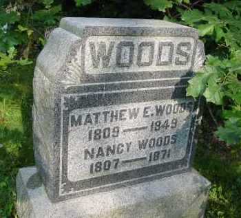 WOODS, NANCY - Gallia County, Ohio | NANCY WOODS - Ohio Gravestone Photos