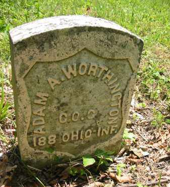 WORTHINGTON, ADAM A. - Gallia County, Ohio | ADAM A. WORTHINGTON - Ohio Gravestone Photos