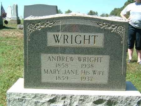 WRIGHT, ANDREW - Gallia County, Ohio | ANDREW WRIGHT - Ohio Gravestone Photos