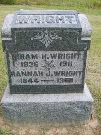 WRIGHT, HANNAH - Gallia County, Ohio | HANNAH WRIGHT - Ohio Gravestone Photos