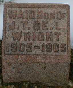 WRIGHT, WAID - Gallia County, Ohio | WAID WRIGHT - Ohio Gravestone Photos