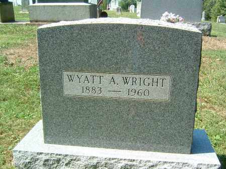 WRIGHT, WYATT A - Gallia County, Ohio | WYATT A WRIGHT - Ohio Gravestone Photos