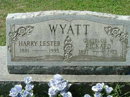 WYATT, HARRY LESTER - Gallia County, Ohio | HARRY LESTER WYATT - Ohio Gravestone Photos