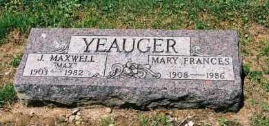 YEAUGER, JAMES MAXWELL - Gallia County, Ohio | JAMES MAXWELL YEAUGER - Ohio Gravestone Photos