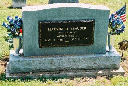 YEAUGER, MARVIN D. - Gallia County, Ohio | MARVIN D. YEAUGER - Ohio Gravestone Photos