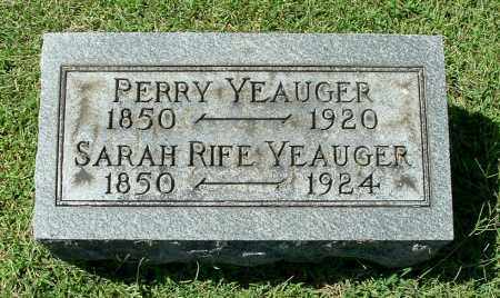 RIFE YEAUGER, SARAH - Gallia County, Ohio | SARAH RIFE YEAUGER - Ohio Gravestone Photos