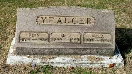 YEAUGER, MOTE - Gallia County, Ohio | MOTE YEAUGER - Ohio Gravestone Photos