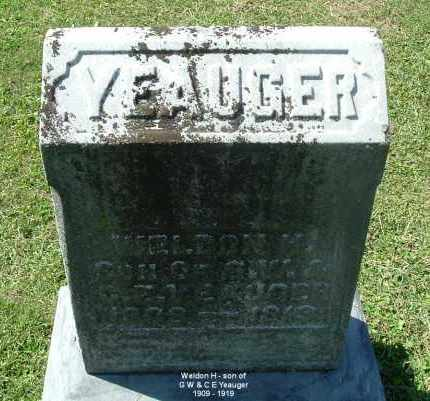 YEAUGER, WELDON H - Gallia County, Ohio | WELDON H YEAUGER - Ohio Gravestone Photos