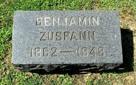 ZUSPANN, BENJAMIN - Gallia County, Ohio | BENJAMIN ZUSPANN - Ohio Gravestone Photos