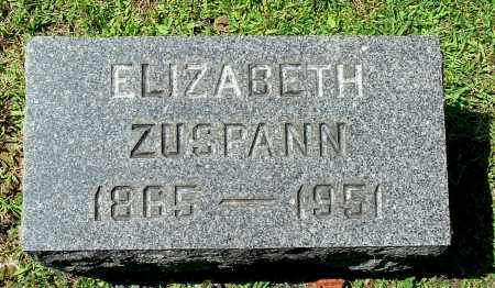 ZUSPANN, ELIZABETH - Gallia County, Ohio | ELIZABETH ZUSPANN - Ohio Gravestone Photos