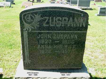 ZUSPANN, JOHN - Gallia County, Ohio | JOHN ZUSPANN - Ohio Gravestone Photos