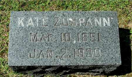 ZUSPANN, KATE - Gallia County, Ohio | KATE ZUSPANN - Ohio Gravestone Photos