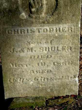 SHULER, CHRISTOPHER - Gallia County, Ohio | CHRISTOPHER SHULER - Ohio Gravestone Photos