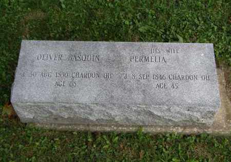 BASQUIN, OLIVER - Geauga County, Ohio | OLIVER BASQUIN - Ohio Gravestone Photos