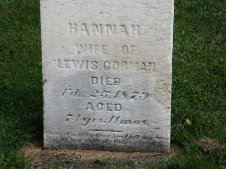 GORMAN, HANNAH - Geauga County, Ohio | HANNAH GORMAN - Ohio Gravestone Photos