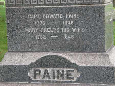 PAINE, CAPT. EDWARD - Geauga County, Ohio | CAPT. EDWARD PAINE - Ohio Gravestone Photos