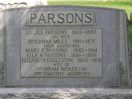 PARSONS, MARY E. - Geauga County, Ohio | MARY E. PARSONS - Ohio Gravestone Photos