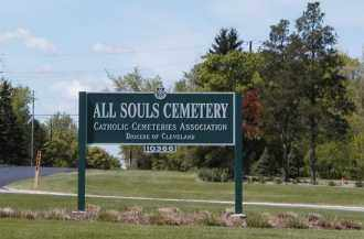 SIGN, ALL SOULS CEMETERY - Geauga County, Ohio | ALL SOULS CEMETERY SIGN - Ohio Gravestone Photos
