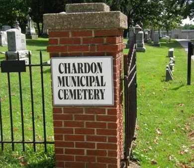 CHARDON SIGN, ENTRANCE - Geauga County, Ohio | ENTRANCE CHARDON SIGN - Ohio Gravestone Photos