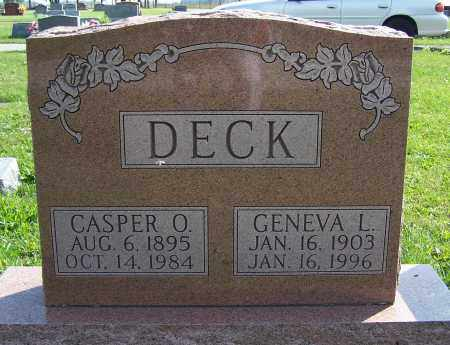 DECK, GENEVA L. - Greene County, Ohio | GENEVA L. DECK - Ohio Gravestone Photos