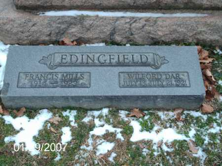 EDINGFIELD, WILFORD DAR - Greene County, Ohio | WILFORD DAR EDINGFIELD - Ohio Gravestone Photos